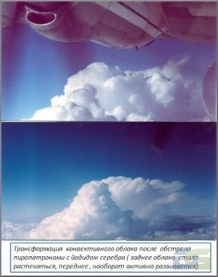 Трансформация конвективного облака